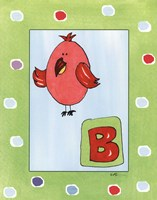 B is for Bird Framed Print