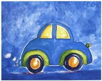 Beep Beep Blue Framed Print