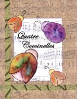 Quatre Coccinelles Fine Art Print