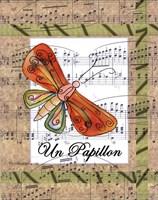 Un Papillon Framed Print