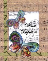 Deux Papillon Fine Art Print