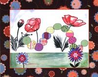 Patchwork Caterpillar Framed Print