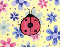 The Funky Flower Ladybug Framed Print