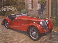 Riley Red Roadster Fine Art Print
