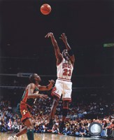 Michael Jordan Game 6 of the 1996 NBA Finals Action Fine Art Print