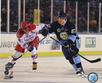 Alex Ovechkin & Sidney Crosby 2011 NHL Winter Classic Action Fine Art Print
