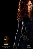 Iron Man 2 Black Widow Wall Poster