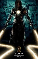 Iron Man 2 Laser Whips Wall Poster