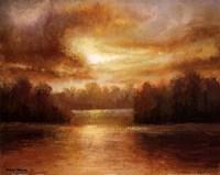 Golden Lake Glow II Framed Print