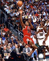 Scottie Pippen Game 4 of the 1996 NBA Finals Action Fine Art Print