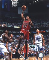 Scottie Pippen Game 2 of the 1998 NBA Finals Action Fine Art Print