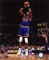 Patrick Ewing 1996 Action Framed Print