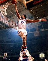 Julius Erving 1974 Action Framed Print