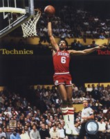 Julius Erving Action Fine Art Print