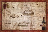 Wine Map Fine Art Print
