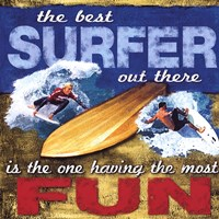 Fun- Surfing Framed Print