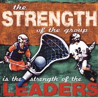Stregenth- Lacrosse Framed Print