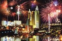 Las Vegas Fireworks Framed Print