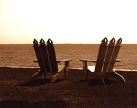 Adirondack Chairs I - mini Fine Art Print