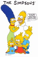 The Simpsons Family Fine Art Print