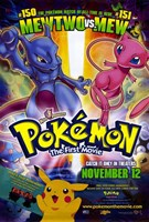 Pokemon: The First Movie Wall Poster