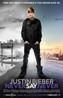 Justin Bieber: Never Say Never Fine Art Print