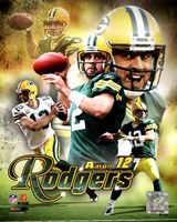 Aaron Rodgers 2011 Portrait Plus Fine Art Print