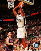 David Robinson Game 2 of the 2003 NBA Finals Action Fine Art Print