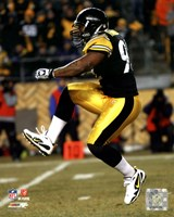 James Harrison 2010 Playoff Action Fine Art Print