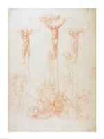 Study of Three Crosses Fine Art Print