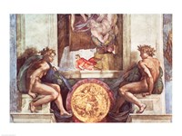 Sistine Chapel Ceiling: Ignudi Fine Art Print