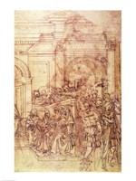 W.29 Sketch of a crowd for a classical scene Fine Art Print