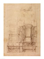 W.26r Design for the Medici Chapel in the church of San Lorenzo, Florence Fine Art Print