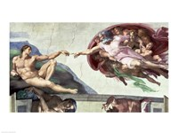 Sistine Chapel Ceiling (1508-12): The Creation of Adam, 1511-12 Fine Art Print