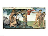 Sistine Chapel Ceiling (1508-12): The Fall of Man, 1510 Fine Art Print