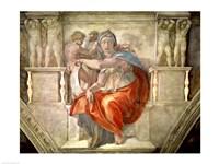 Sistine Chapel Ceiling: Delphic Sibyl Fine Art Print