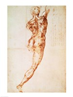 Nude, study for the Battle of Cascina Fine Art Print