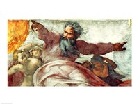 Sistine Chapel Ceiling: Creation of the Sun and Moon, 1508-12 Fine Art Print