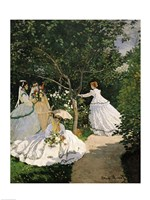 Women in the Garden, 1867 Fine Art Print