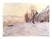 Lavacourt under Snow, c.1878-81 Fine Art Print