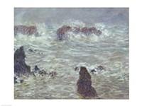 Storm, off the Coast of Belle-Ile, 1886 Fine Art Print