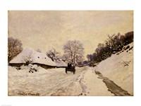 The Cart, or Road under Snow at Honfleur, 1867 Fine Art Print