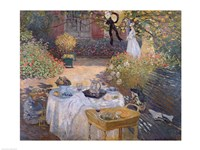 The Luncheon: Monet's garden at Argenteuil, c.1873 Fine Art Print