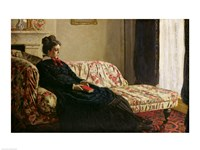 Meditation, or Madame Monet on the Sofa, c.1871 Fine Art Print