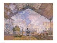 The Gare St. Lazare, 1877 Fine Art Print