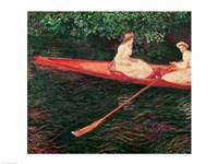 Boating on the Epte, c.1890 Fine Art Print