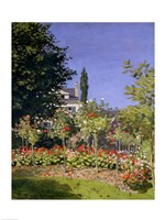 Flowering Garden at Sainte-Adresse, c.1866 Fine Art Print