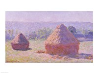 The Haystacks, or The End of the Summer, at Giverny, 1891 Fine Art Print