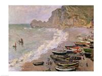 Etretat, beach and the Porte d'Amont, 1883 Fine Art Print