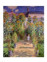 The Artist's Garden at Vetheuil, 1880 Fine Art Print